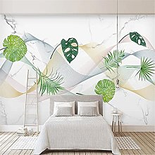 LXiFound Photo Wallpaper -Simple Plant Marble