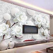 LXiFound Photo Wallpaper -White Plant Flower