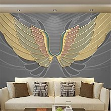LXiFound Photo Wallpaper -Wings Simple Gray Modern