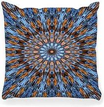LXJ-CQ Throw Pillow Cover 18x18 Abstract Circular