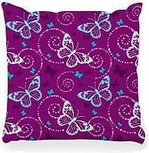 LXJ-CQ Throw Pillow Cover 18x18 Butterfly Pattern