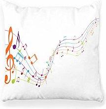LXJ-CQ Throw Pillow Cover 18x18 Colorful Music