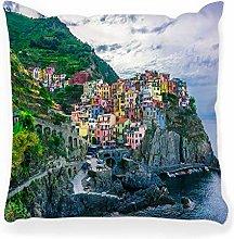 LXJ-CQ Throw Pillow Cover 18x18 Manarola Italy