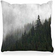 LXJ-CQ Throw Pillow Cover 18x18 Pine Forest Alaska
