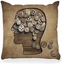 LXJ-CQ Throw Pillow Cover 18x18 Psychology Concept