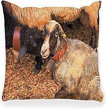 LXJ-CQ Throw Pillow Cover 18x18 Sheep Sheep Black
