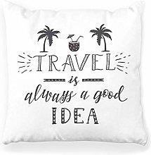 LXJ-CQ Throw Pillow Cover 18x18 Travel Palm