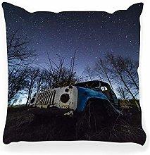 LXJ-CQ Throw Pillow Cover 18x18 Truck Mountain
