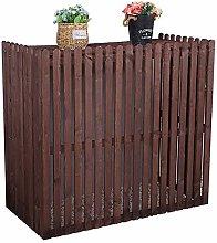 LXLA Outdoor Balcony Flower Stand, Wooden