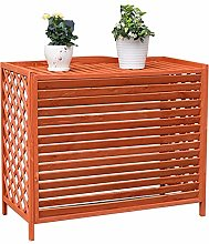 LXLA Outside Units Air Conditioner Cover, Wooden
