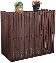 LXLA Wooden Air Conditioner Cover for Outside