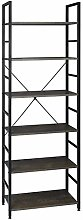 LXQS Bookcase Wooden shelf in black and white