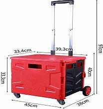 LXTIN Shopping Trolleys Portable shopping cart,