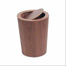 LXTIN Trash can Wood Trash Can Wastebasket for