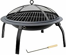 LXVY Fire Bowl Pit Basket Stainless Steel Garden