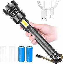LYABANG LED Tactical Flashlight, 90000 Lumens