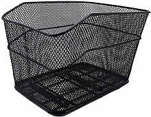 LYATW Black Steel Wire Bicycle Basket At The Rear