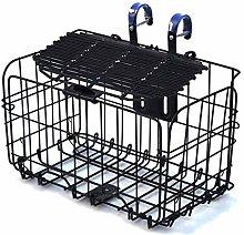 LYATW Foldable Steel Bicycle Basket With Handle,