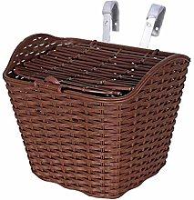LYATW Rattan Plastic Bicycle Basket,With Hook,