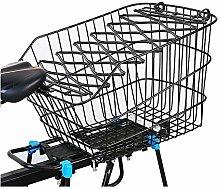 LYATW Rear Bike Basket, Waterproof Wire Bike