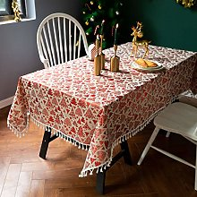 Lyenhu Tassel Tablecloth, Table Cloth Tassel Lace,