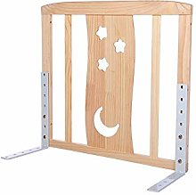 LYFHL Wooden Bed Rail Beds Guard Extra Tall And