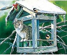 LYFKYL Paint Kit Dialing 5D Diamond DIY cat House