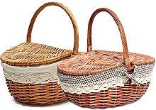 LyhomeO Handmade Wicker Basket Wicker Camping