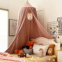 LYKH Children Bed Canopy Round Dome, Kids Mosquito