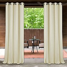 LYKH Windproof Outdoor Curtain with Top Bottom