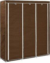 Lykins 150cm Wide Portable Wardrobe by Brown -