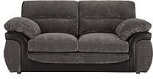 Lyla Fabric And Faux Leather 2 Seater Sofa