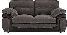 Lyla Fabric And Faux Leather 2 Seater Sofa