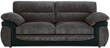 Lyla Fabric And Faux Leather 3 Seater Sofa