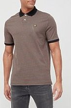 Lyle & Scott Retro Repeat Knitted Polo Shirt -