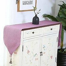 LYLLXL Table Runner,Modern Lilac Simple Tassels