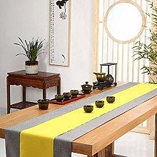 LYLLXL Table Runner,Yellow Grey Stripe Simple