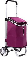 LYLSXY Carts,28L Foldable Shopping Trolley Bag on