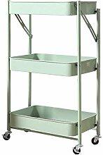 LYLSXY Carts,Bathroom Storage Shelf Folding