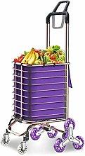 LYLSXY Carts,Foldable Aluminum Alloy Shopping Cart