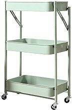 LYLSXY Carts,Trolley Foldable Kitchen Shelf