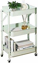 LYLSXY Carts,Trolley Foldable Office Storage Cart