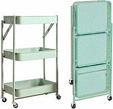 LYLSXY Carts,Trolley Kitchen Storage Cart Folding