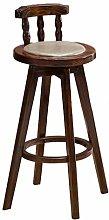 LYLSXY Chairs,Bar Chair Bar Chair Wood Bar Chair