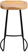 LYLSXY Chairs,Bar Chair Home Solid Wood High Stool