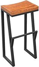 LYLSXY Chairs,High Stool,American Solid Wood Bar