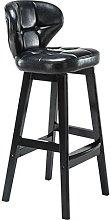 LYLSXY Chairs,Solid Wood Bar Stool European Retro