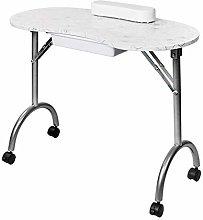 LYLSXY Desk,Portable Manicure Table,with Arm Rest