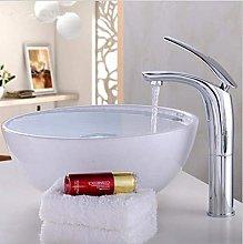 LYLSXY Faucet,Gold/Chrome/White/Black/Red Brass