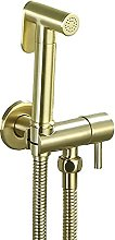 LYLSXY Faucet,Toilet Brass Brushed Gold Handheld